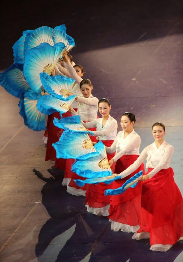 Bella manifestazione la cultura coreana immagini stock libere da diritti