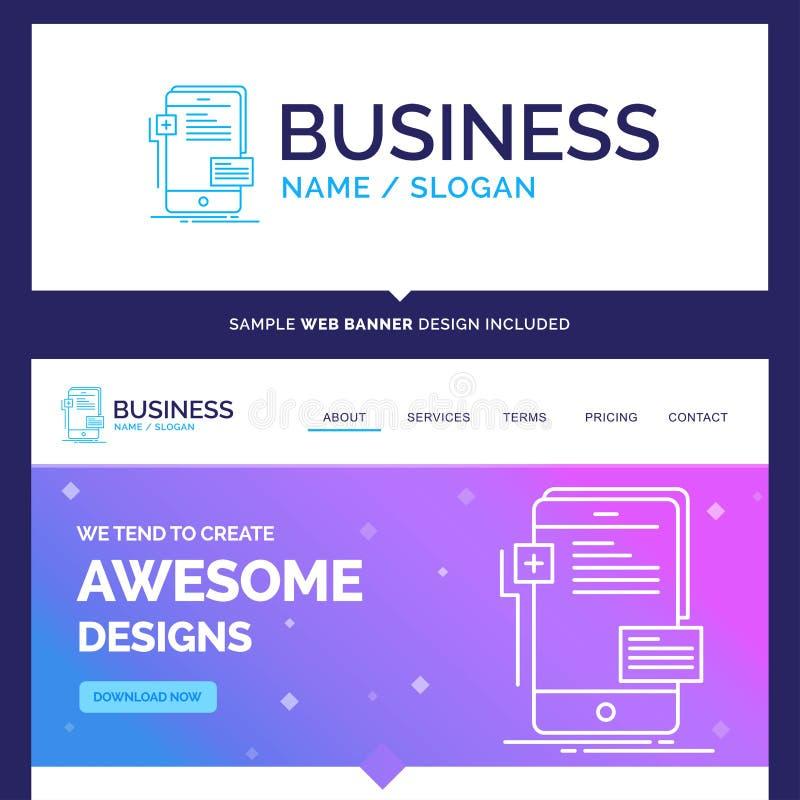 Bella marca commerciale a fine frontale, interfaccia, mobil di concetto di affari illustrazione vettoriale