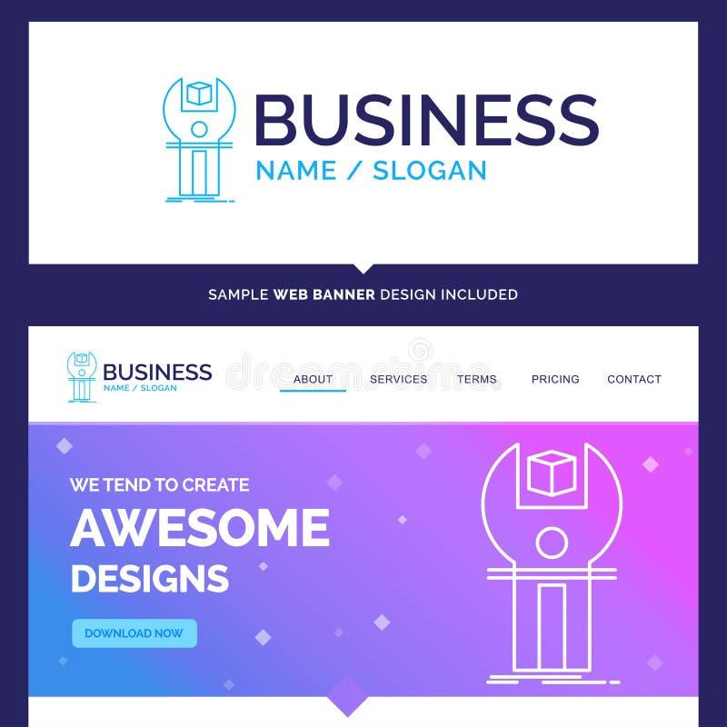 Bella marca commerciale SDK, App, sviluppo, corredo di concetto di affari illustrazione vettoriale