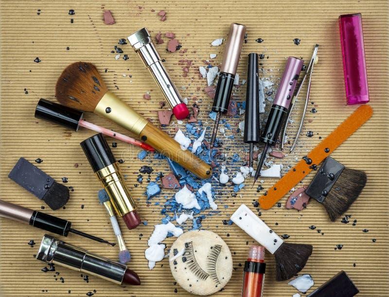 Bella miscela dei prodotti di bellezza fotografia stock libera da diritti