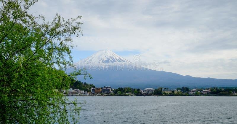 Bella montagna di Fuji, il punto di riferimento famoso del Giappone immagine stock