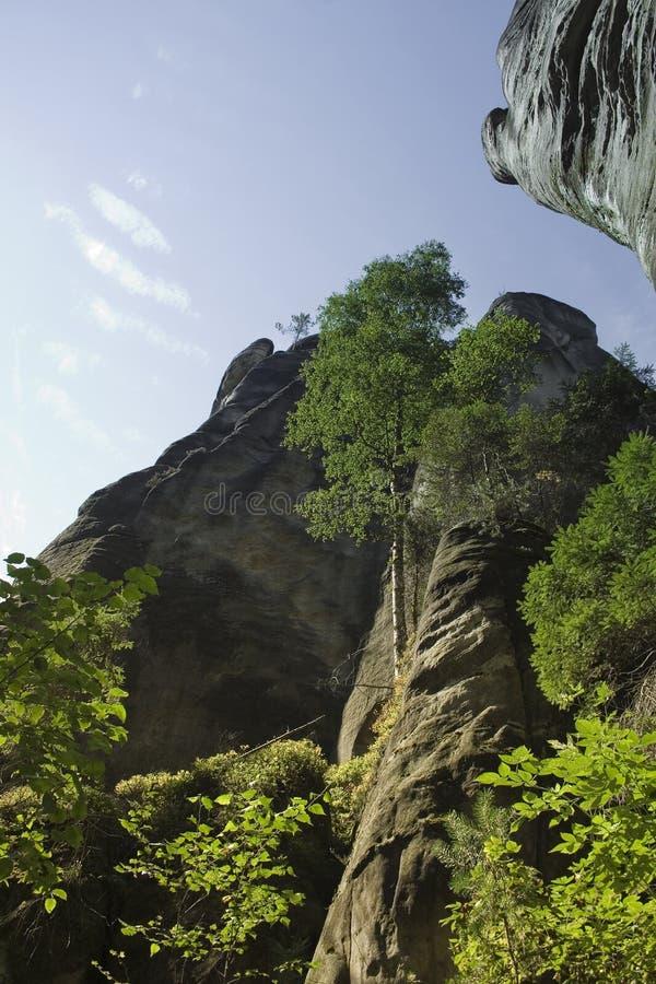 Bella montagna naturale sotto il cielo immagine stock
