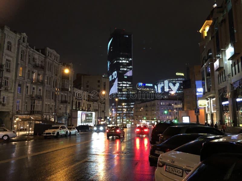 Bella notte in Dnieper immagini stock