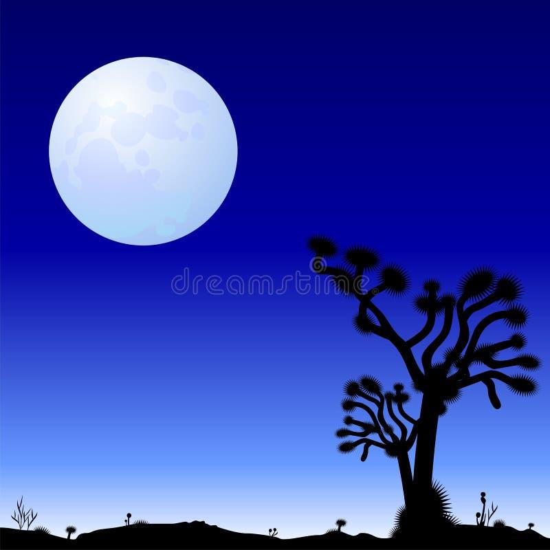 Bella notte nel deserto royalty illustrazione gratis
