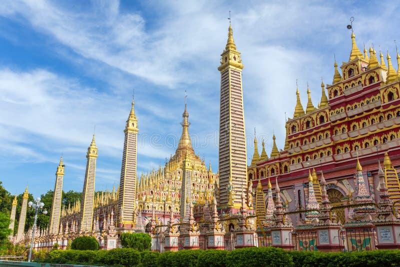 Bella pagoda buddista, Thanboddhay Phaya in Monywa immagine stock libera da diritti