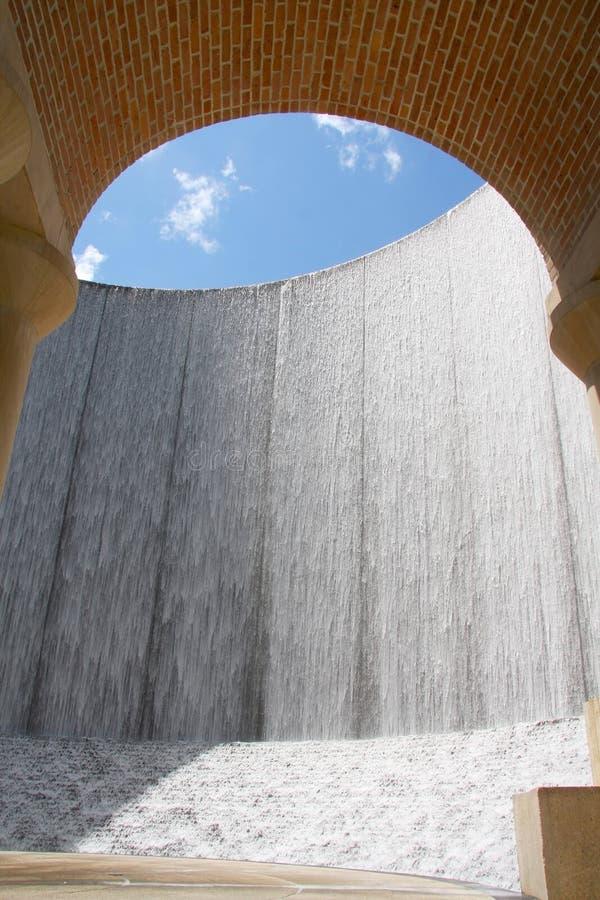 Bella parete dell'acqua a Houston fotografie stock libere da diritti