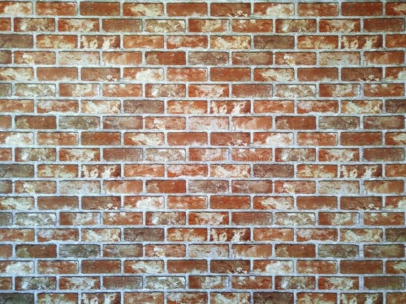 Bella parete marrone astratta del modello, fine sul vecchio muro di mattoni rosso e fondo approssimativo di struttura fotografia stock libera da diritti