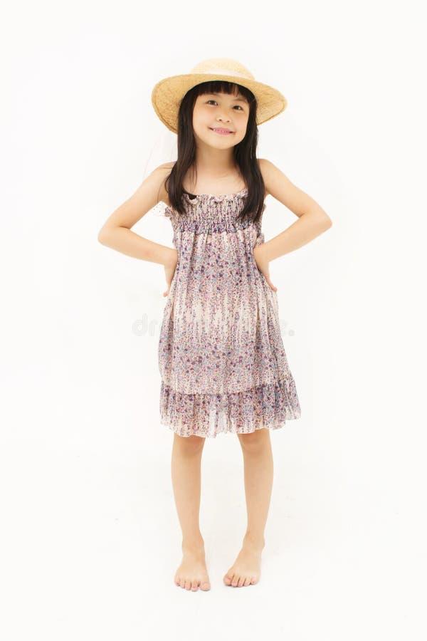 Piccola ragazza asiatica felice fotografia stock libera da diritti