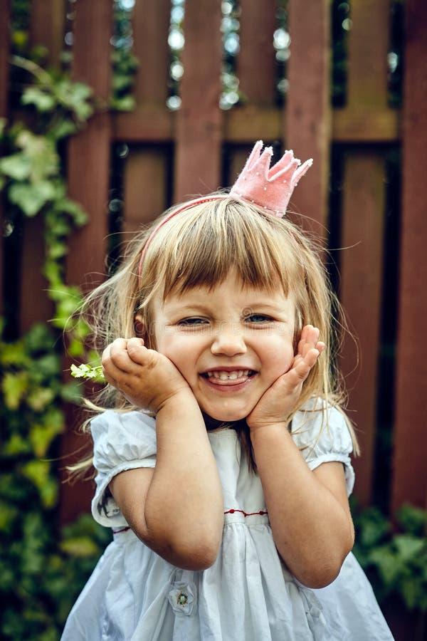 Bella piccola ragazza di principessa fotografie stock
