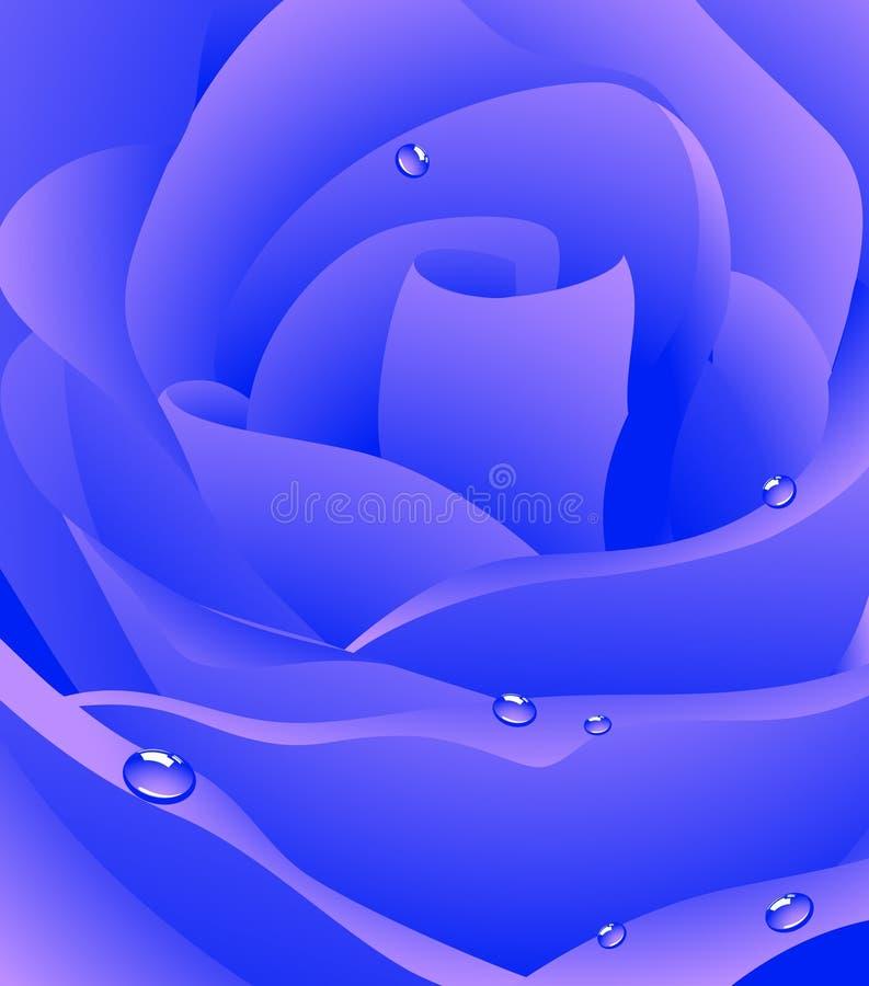 Bella priorità bassa di rosa blu royalty illustrazione gratis