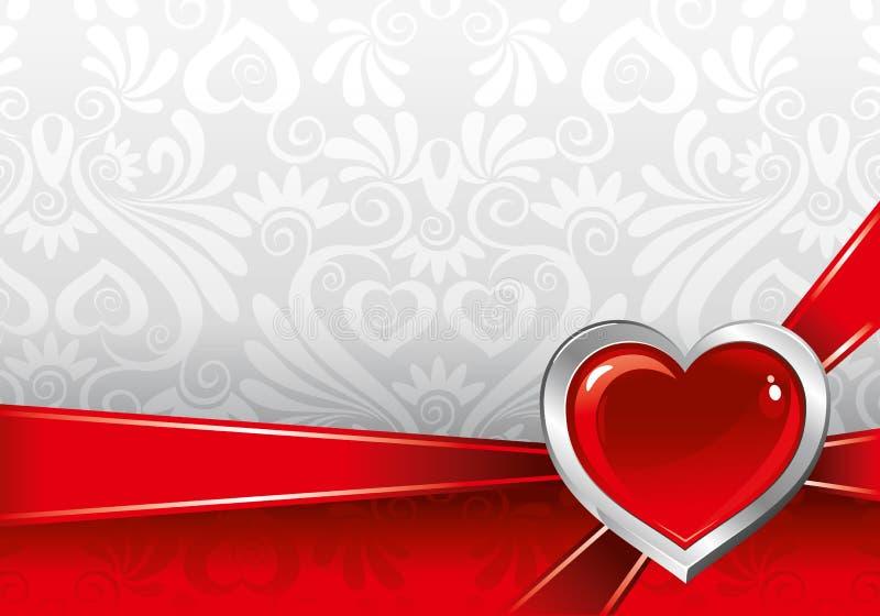 Bella priorità bassa il giorno del biglietto di S. Valentino royalty illustrazione gratis