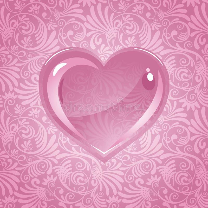 Bella priorità bassa il giorno del biglietto di S. Valentino illustrazione vettoriale