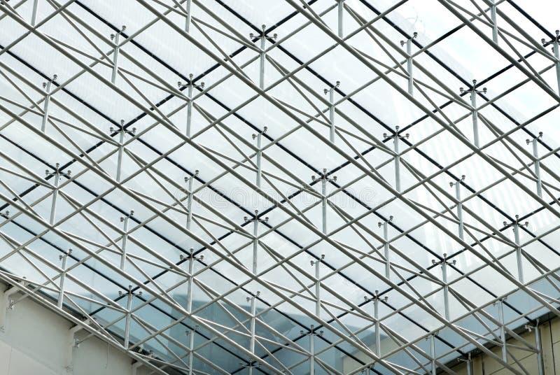 Bella progettazione di rete del tetto fotografie stock libere da diritti