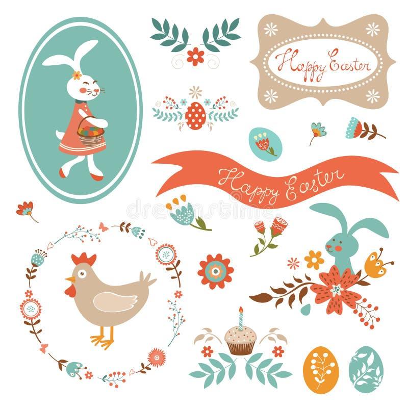 Bella raccolta di Pasqua illustrazione di stock