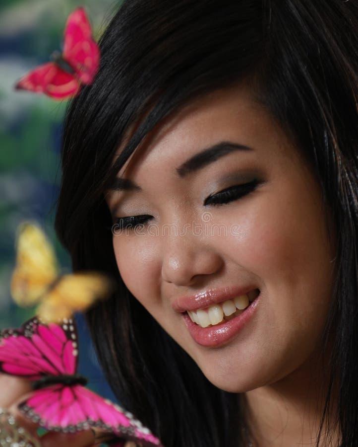 Bella ragazza asiatica fotografie stock libere da diritti