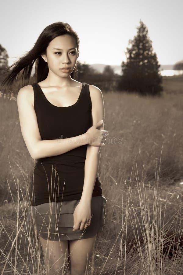 Bella ragazza asiatica fotografia stock