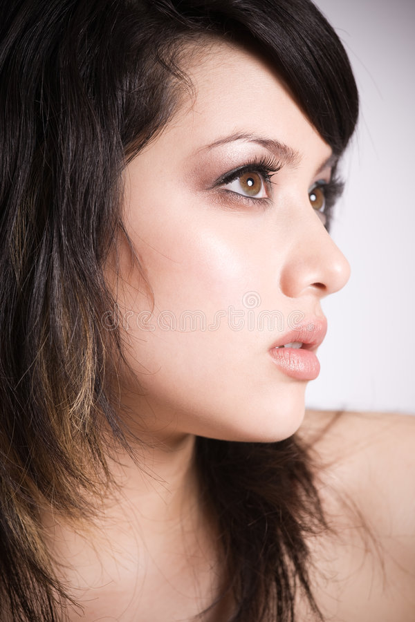 Bella ragazza asiatica fotografia stock libera da diritti