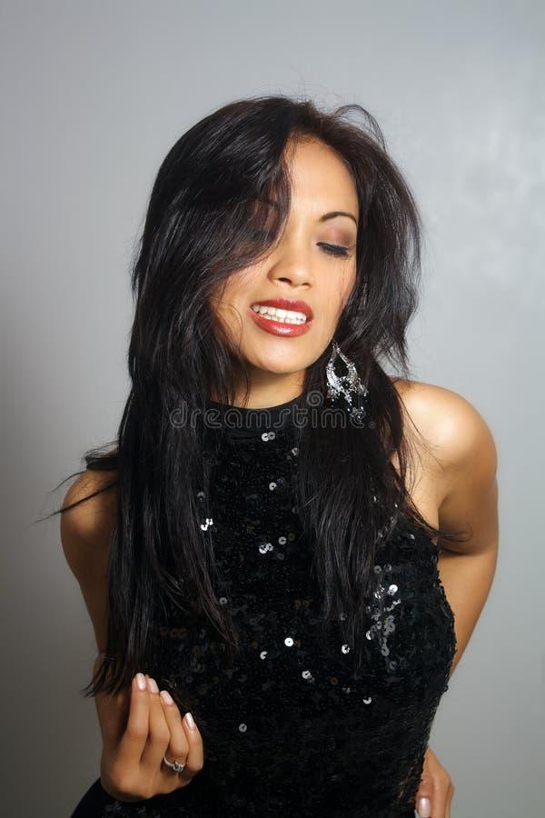 Bella ragazza asiatica sorridente (5) fotografia stock libera da diritti