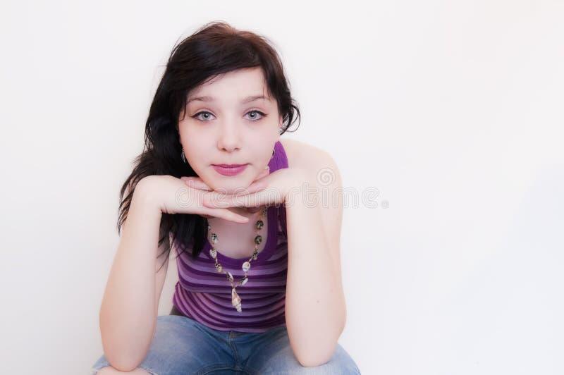 Bella ragazza castana fotografia stock