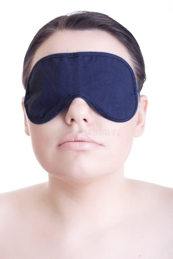 Bella ragazza con il blindfold fotografia stock