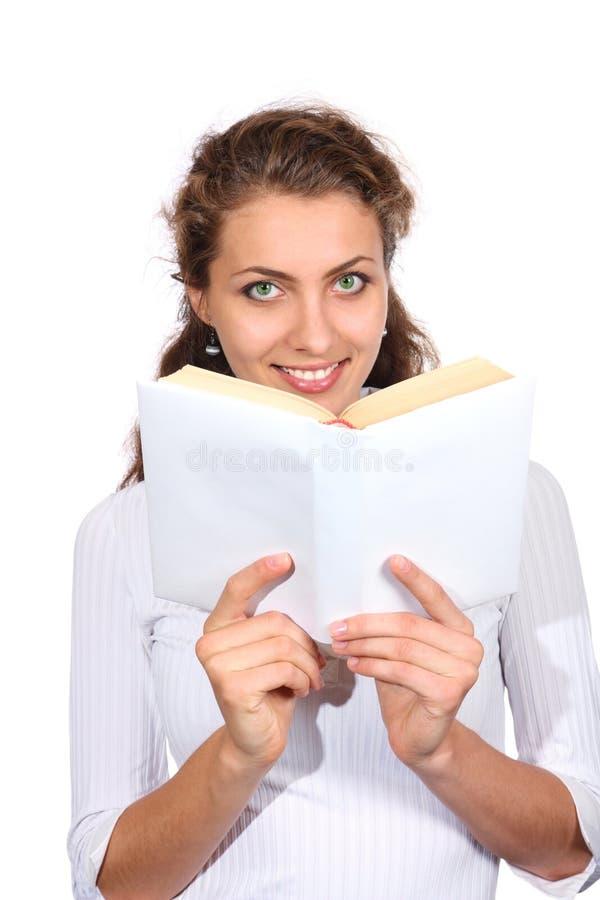 Bella ragazza con un libro immagini stock