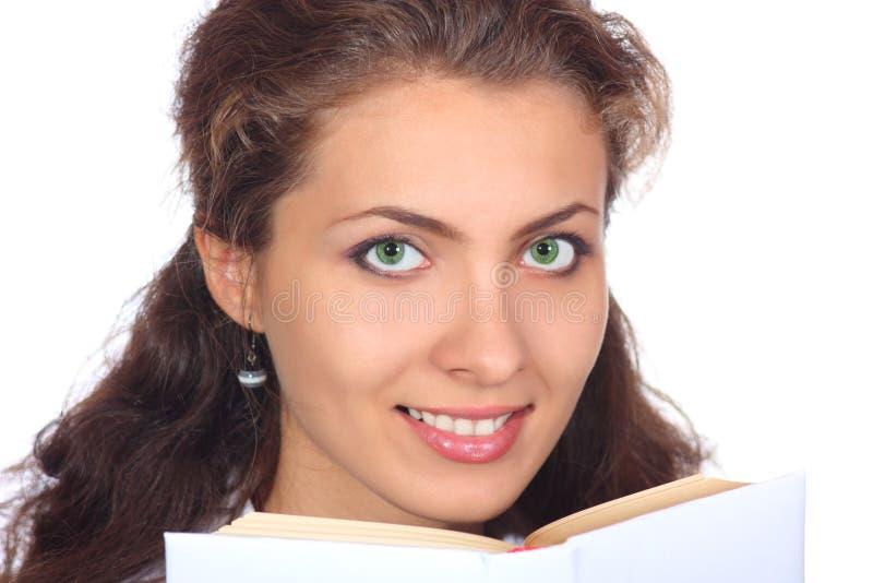 Bella ragazza con un libro immagini stock libere da diritti