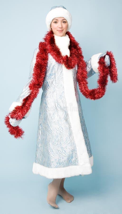 Bella ragazza in costume di nuovo anno fotografie stock