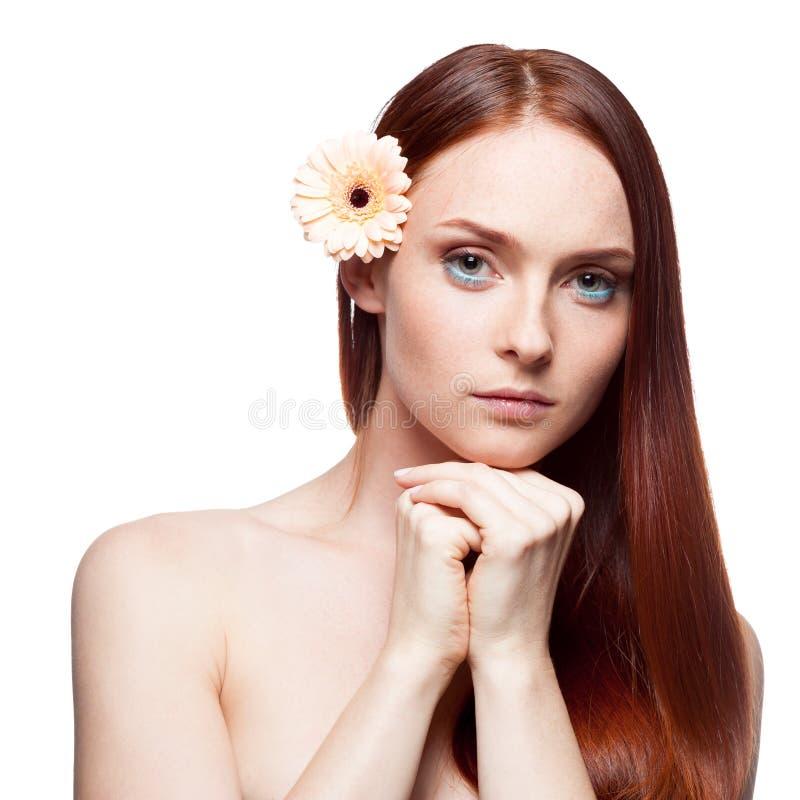 Bella ragazza dai capelli rossa immagini stock libere da diritti