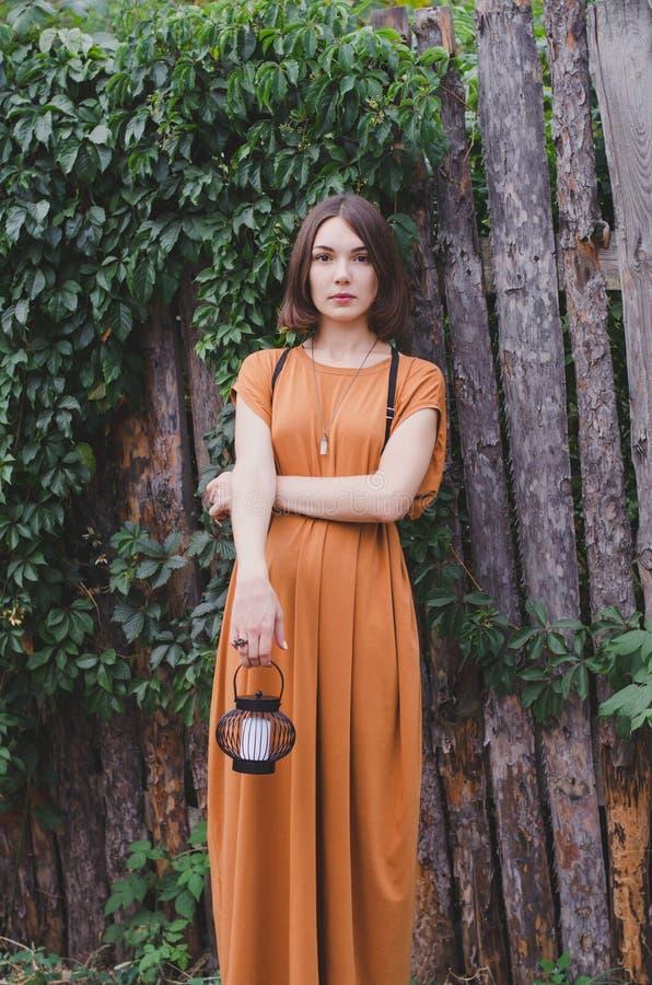 Bella ragazza dark-haired fotografia stock libera da diritti