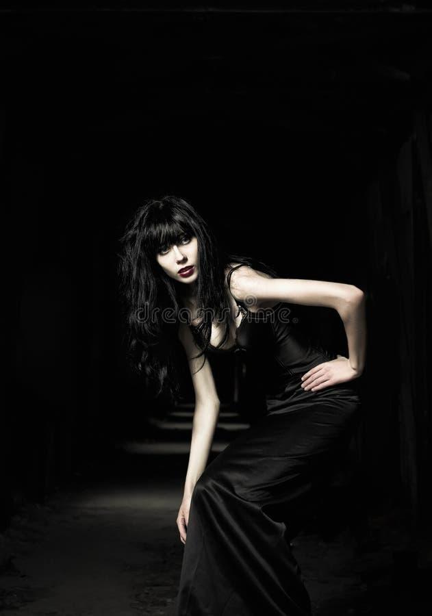 Bella ragazza del goth fotografie stock libere da diritti