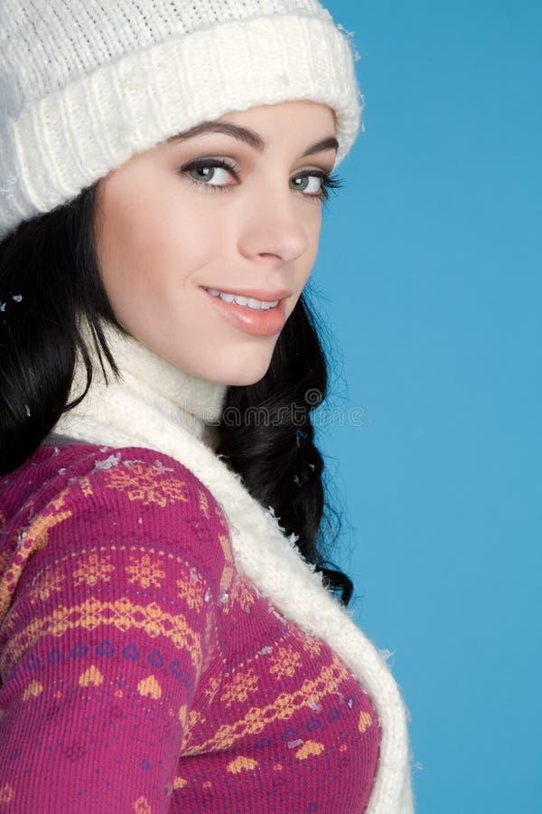 Bella ragazza di inverno immagini stock