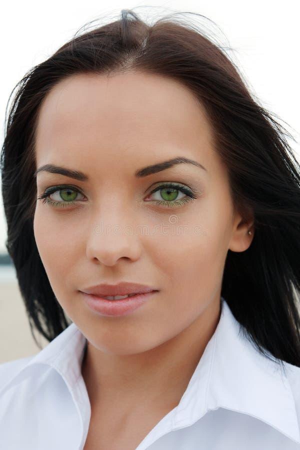 Bella ragazza green-eyed immagini stock libere da diritti