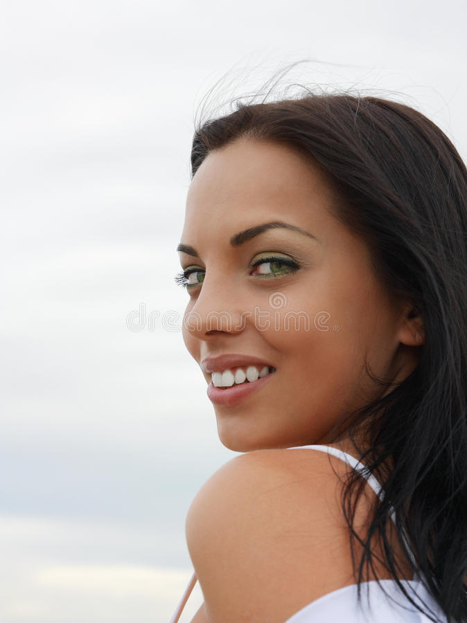 Bella ragazza green-eyed fotografia stock