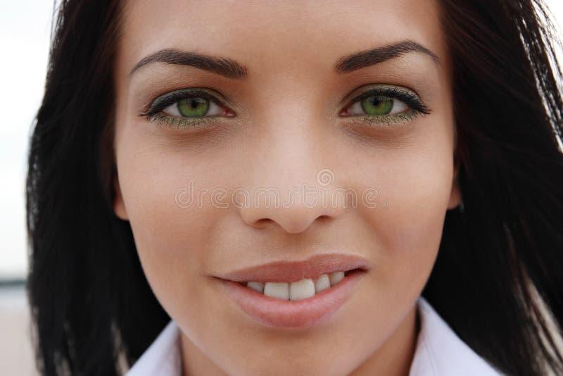 Bella ragazza green-eyed immagine stock libera da diritti
