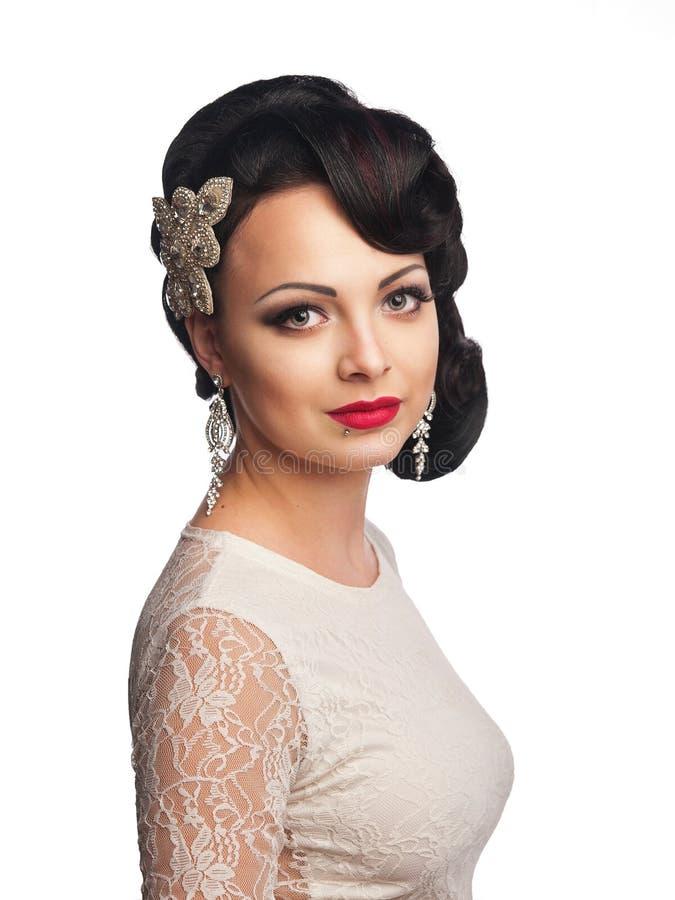 Bella ragazza nell'immagine della sposa fotografia stock
