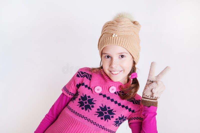 Bella ragazza sorridente. immagine stock