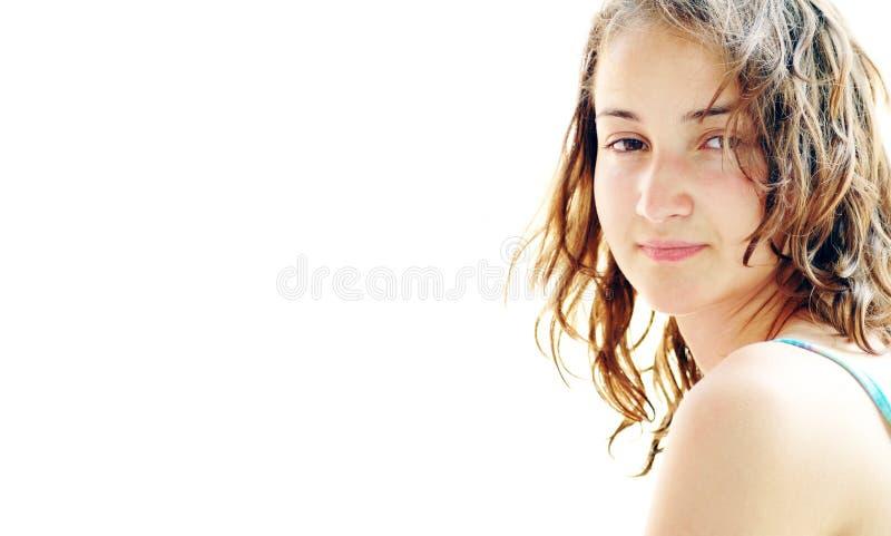Bella ragazza sulla spiaggia #6 immagini stock