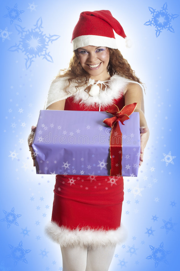 Download Bella Ragazza In Vestiti Di Natale Fotografia Stock - Immagine di fresco, bellezza: 7307024