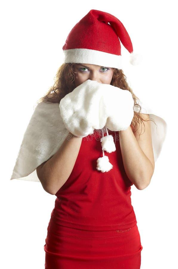 Download Bella Ragazza In Vestiti Di Natale Fotografia Stock - Immagine di doni, people: 7307058