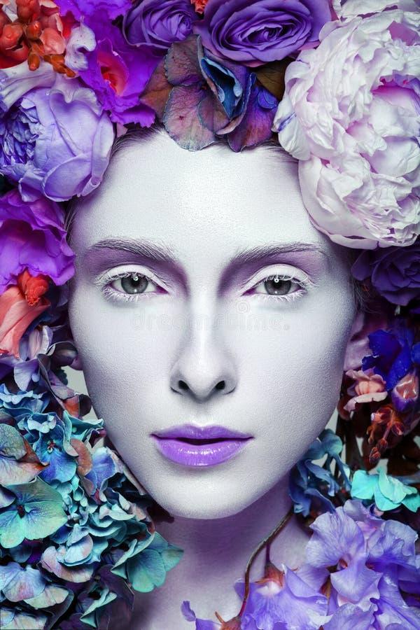 Bella regina del fiore fotografia stock libera da diritti