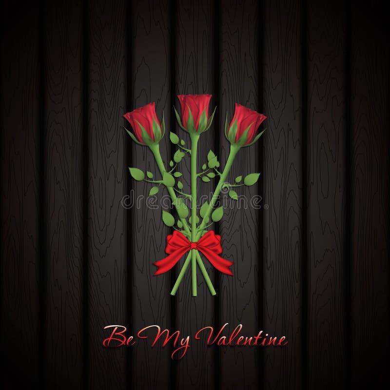 Bella Rose Bouquet rossa illustrazione di stock