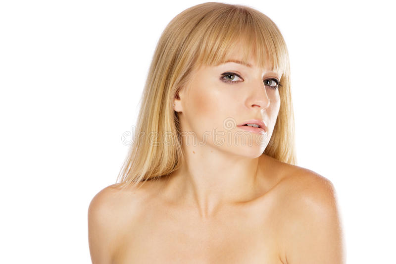 Bella signora con pelle perfetta, ritratto dello studio immagini stock libere da diritti