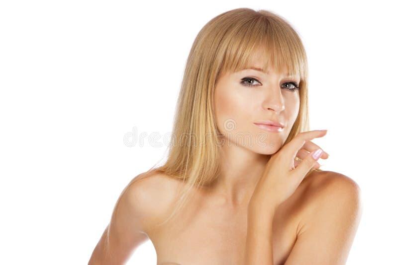Bella signora con pelle perfetta, ritratto dello studio fotografia stock libera da diritti