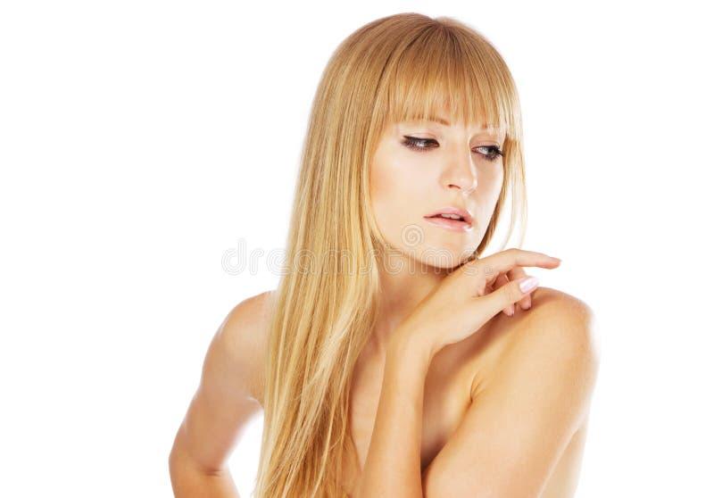 Bella signora con pelle perfetta, ritratto dello studio fotografie stock libere da diritti