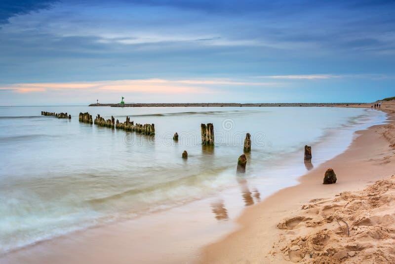 Bella spiaggia al Mar Baltico fotografia stock libera da diritti