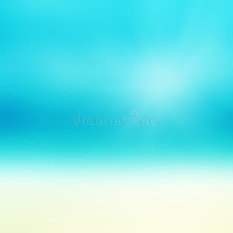Bella spiaggia astratta e mare tropicale Estate astratta della sfuocatura fotografia stock libera da diritti