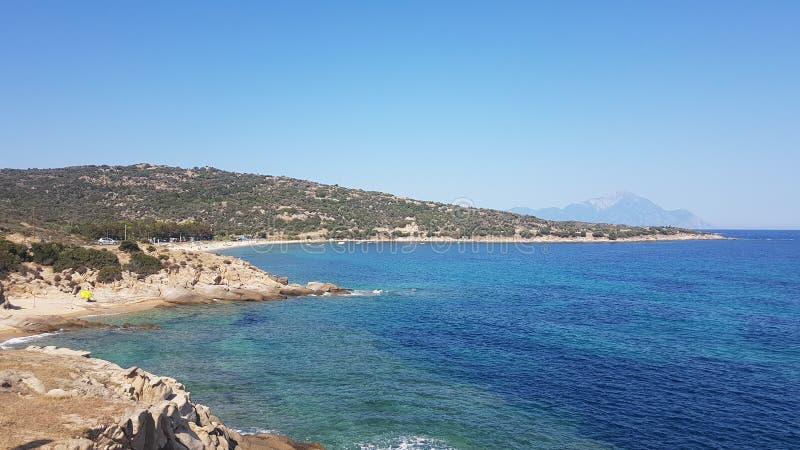 Bella spiaggia blu fotografia stock libera da diritti
