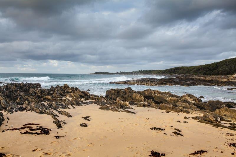 Bella spiaggia in capo Conran, Australia immagine stock libera da diritti