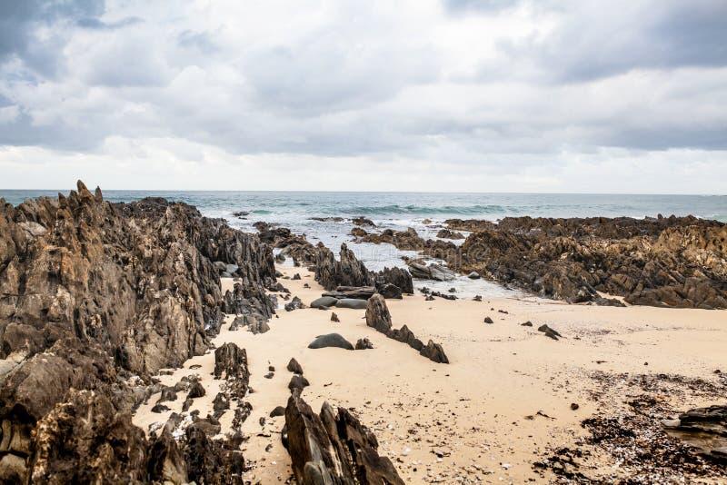 Bella spiaggia in capo Conran, Australia immagini stock libere da diritti