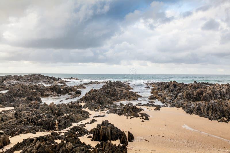 Bella spiaggia in capo Conran, Australia fotografia stock
